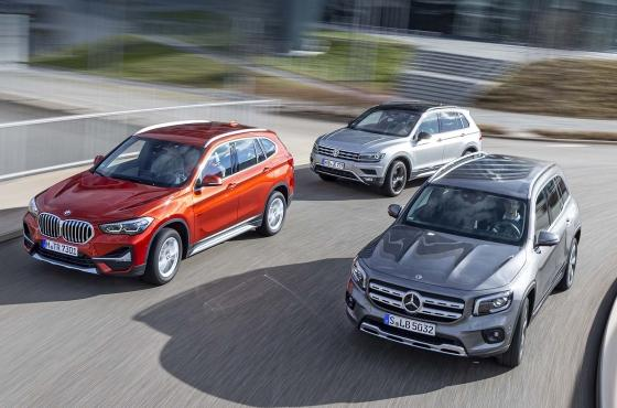 Mercedes GLB kontra BMW X1 i VW Tiguan: Świat crossoverów - TEST