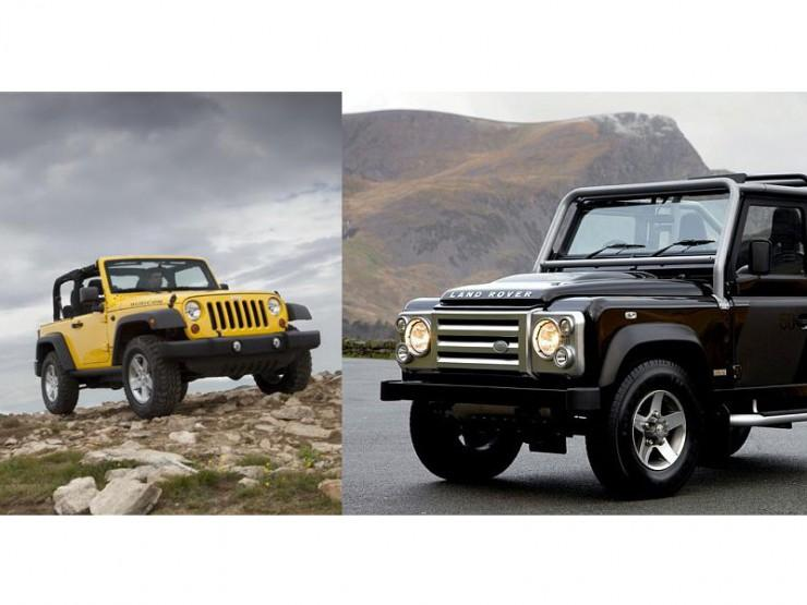 Jeep Wrangler i Land Rover Defender