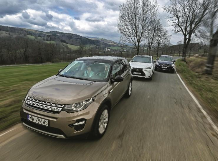Lexus NX, Volvo XC60 i Land Rover Discovery Sport