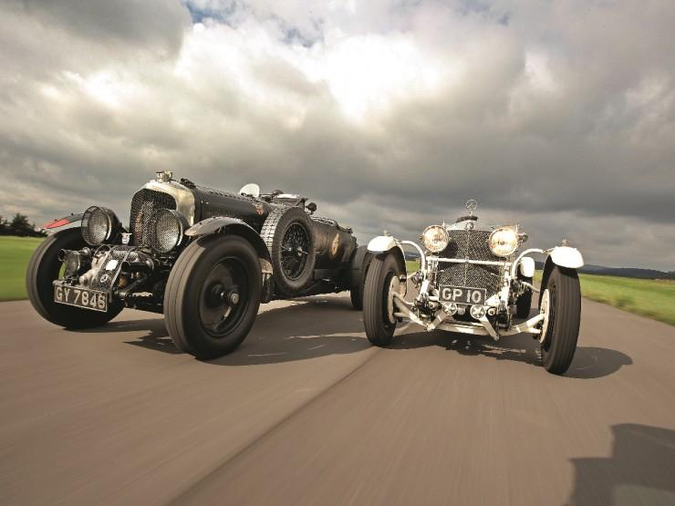 Bentley Blower i Mercedes SS