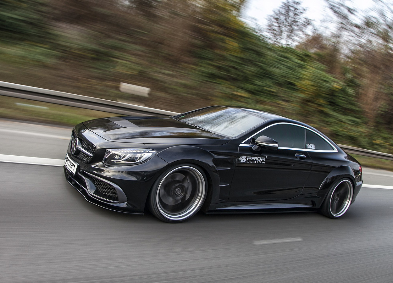 Mercedes klasa S Coupe - Prior Design na szeroko