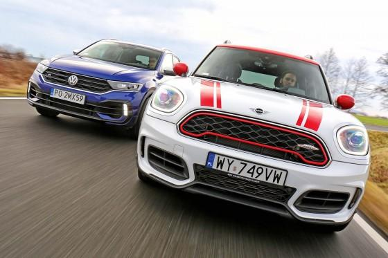 Mini Countryman John Cooper Works i Volkswagen T-Roc R - Cross & sport