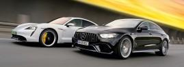 Mercedes-AMG GT 63 S 4-Door vs. Porsche Taycan Turbo S: Dwie strony mocy - TEST
