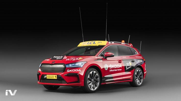 Skoda Enyaq iV podczas Tour de France