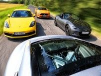 Audi R8, Ford Mustang, Mazda MX-5, Porsche 718 Cayman