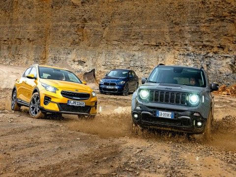 BMW X2, Jeep Renegade, Kia Xceed - Test hybryd plug-in  - motogazeta mojeauto.pl
