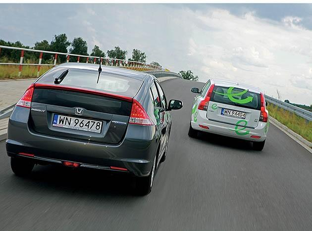 Honda Insight i Volvo V50