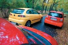 Suzuki Swift, Seat Ibiza i Citroen C2