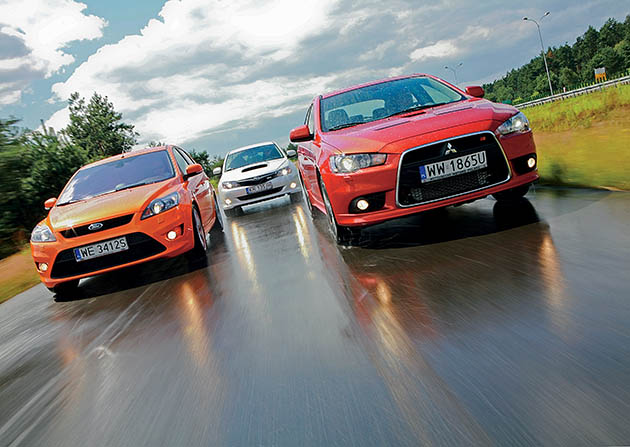 Focus ST, Lancer Ralliart, Impreza WRX - Mocne light