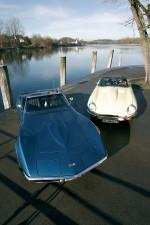 Corvette i Jaguar E-type.