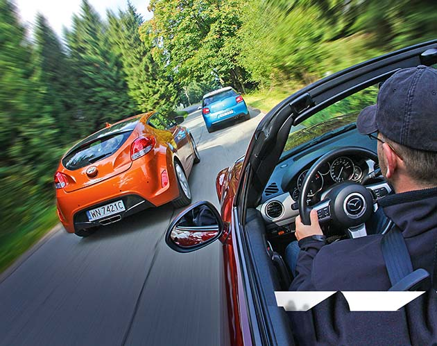 Citroën DS3, Hyundai Veloster, Mazda MX-5 Roadster-Coupé – real jak sen