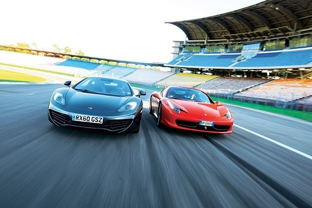 Ferrari 458 Italia vs. McLaren MP4-12C