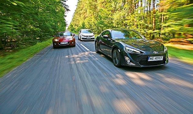 Mazda MX-5, Toyota GT86, VW Golf GTI