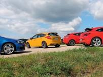 Ford Focus ST, Opel Astra OPC, Renault Megane Coupe RS, VW Scirocco R: szybkie i wściekłe
